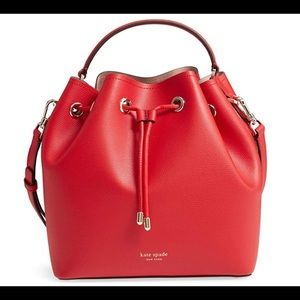 Kate Spade Vivian Medium Bucket Bag - hot chili